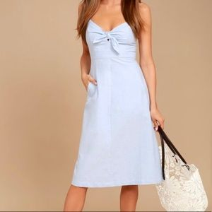 New Lulus Chambray Dress with Pockets!